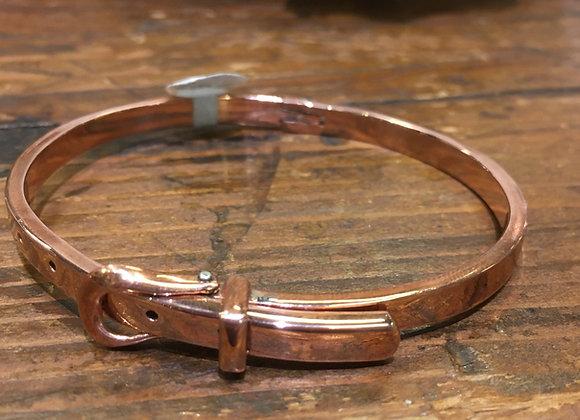 Copper belt buckle bracelet