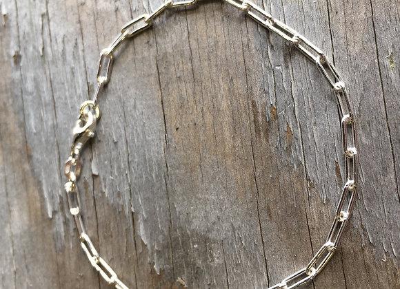 2.5mm Sterling Silver Paperclip Bracelet