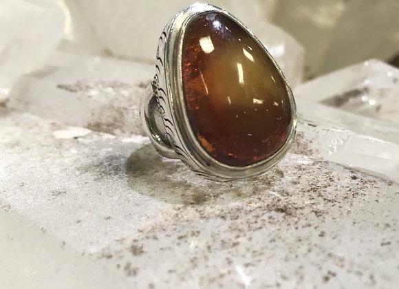Saville Amber Ring