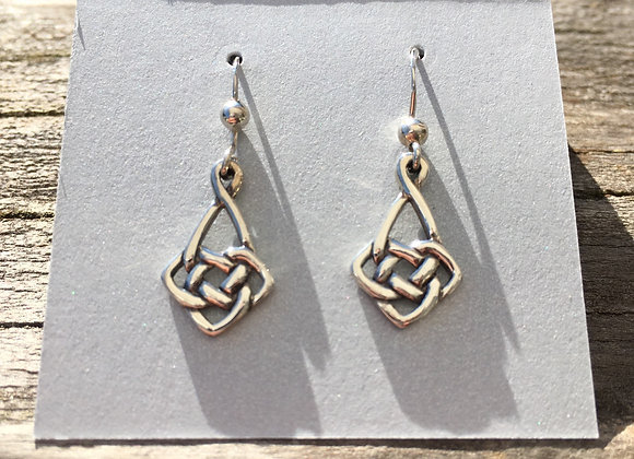 Small Celtic knot drop earrings