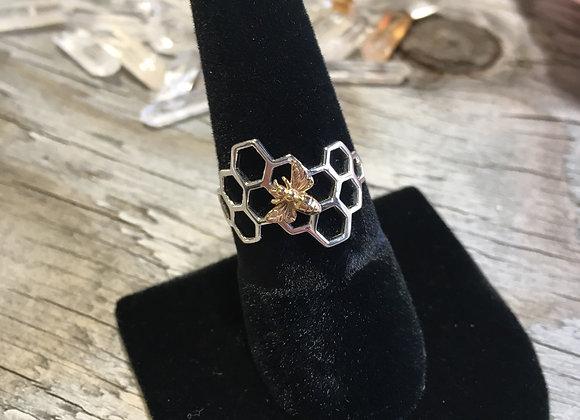 Honeycomb bee ring