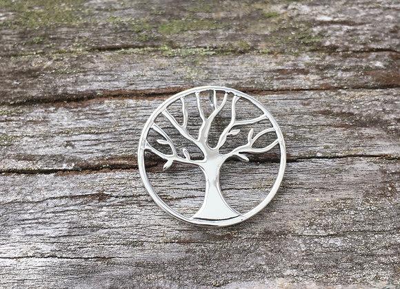 Round hidden bale tree of life pendant