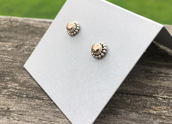 Small gold and silver studs