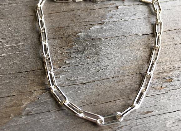 3mm paperclip chain bracelet