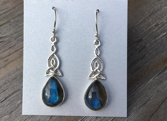 Labradorite Celtic knot earrings