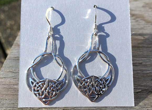 Celtic teardrop twist earrings
