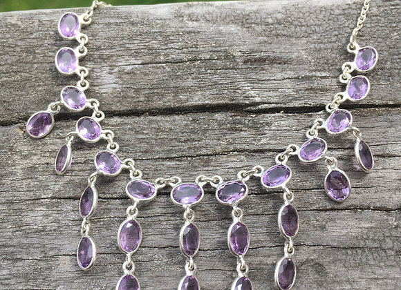 Amethyst multi stone necklace