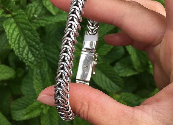 Chunky wheat link bracelet