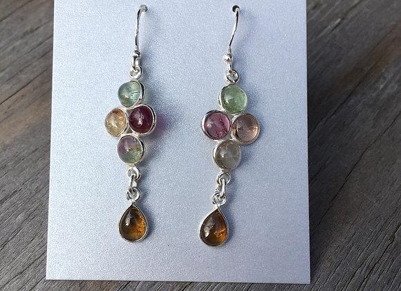 Tourmaline multi stone earrings