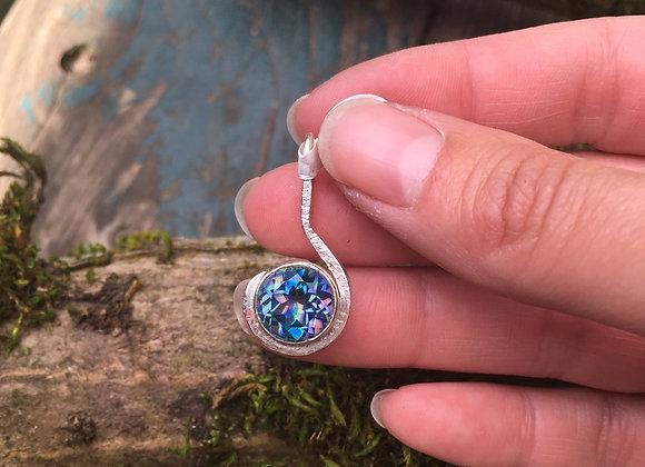 Mystic quartz spiral pendant