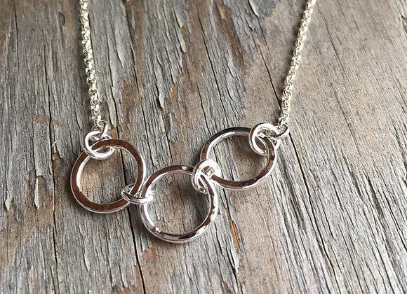 Mikel Grant breathe trio necklace