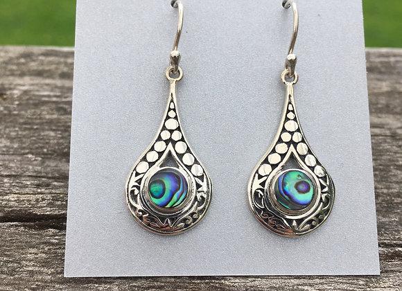 River rocks Paua shell earrings