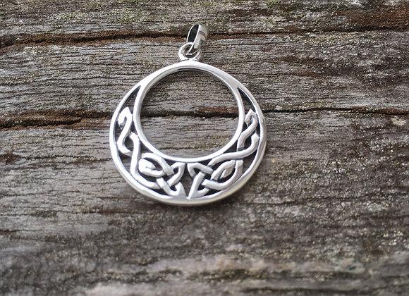 Medium Celtic crescent pendant