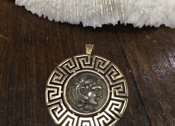Alexander the Great ancient coin pendant