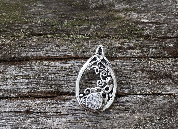 Celtic stars at night cubic zirconia pendant