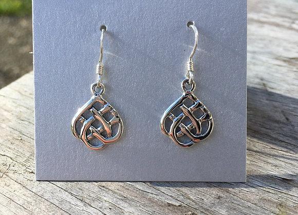 Teardrop Celtic earrings