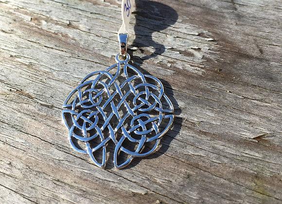 Detailed Celtic knot pendant