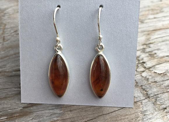 Marquis amber earrings