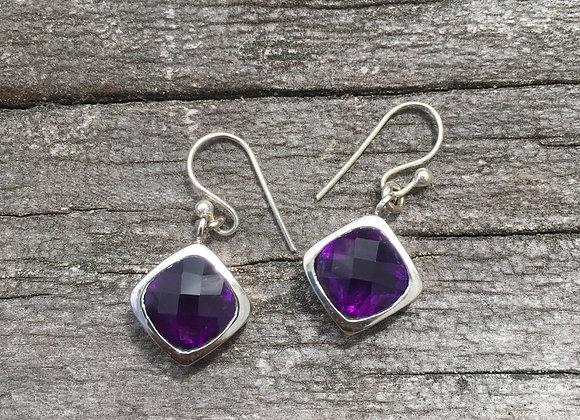 Deep purple amethyst earrings