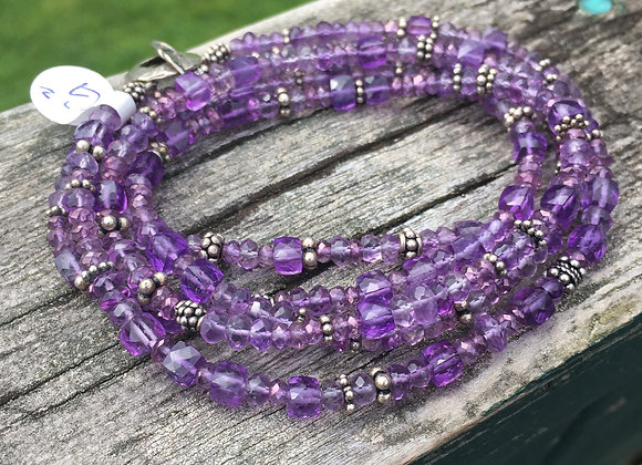 GenVie designs long amethyst necklace