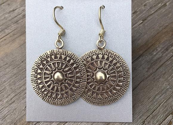 Hilltribe shield earrings