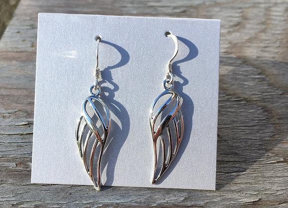 Medium cutout wing earrings