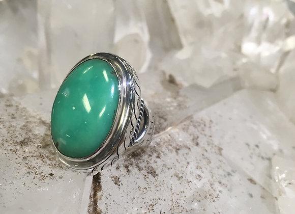 Saville chrysoprase Ring