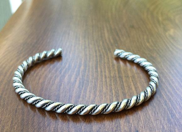 Bosco Bling twisted silver cuff bracelet