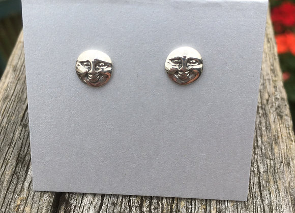 Man in the moon studs