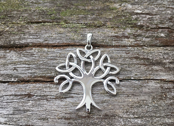 Cutout Celtic tree of life pendant