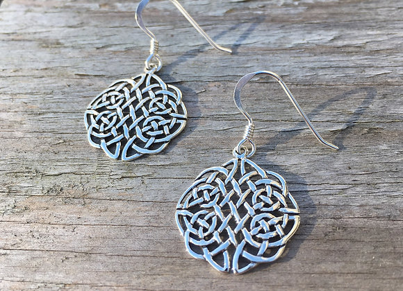 Intricate Celtic knot earrings