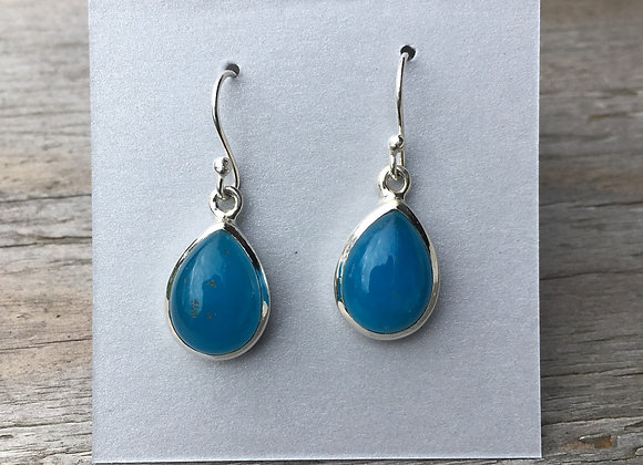 Smithsonite teardrop earrings