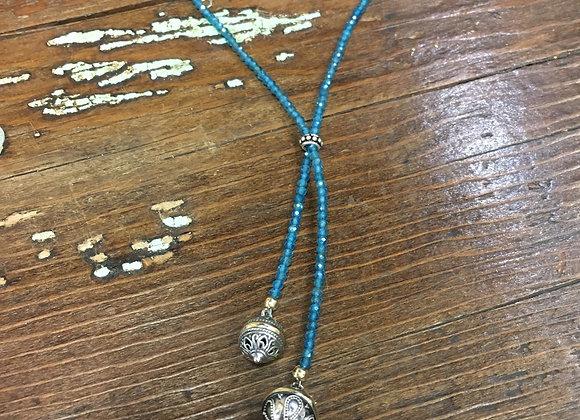 GenVie Designs apatite lariat necklace
