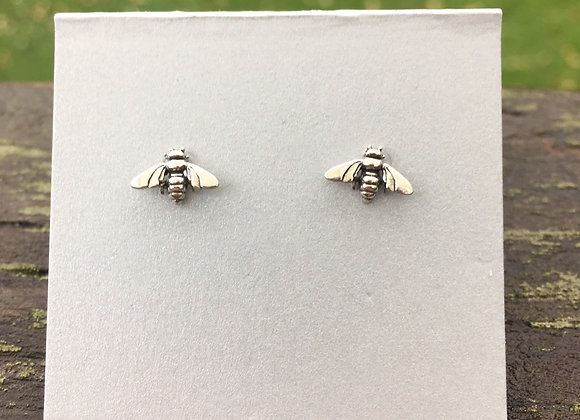 Bee stud earrings