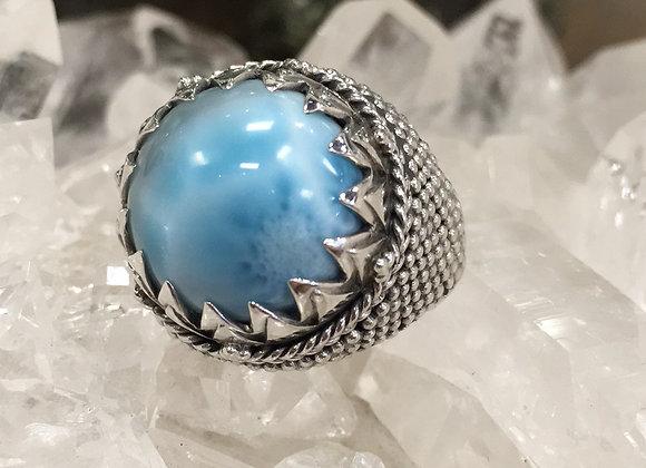 Mercurious Designs Larimar Saracen Ring
