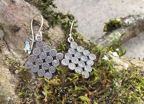 Hilltribe spiral earrings