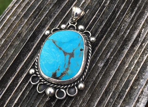 Vintage southwest turquoise pendant