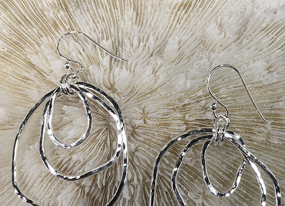 Mikel Grant large trio coast collection earrings