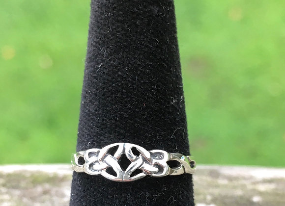 Celtic band pinky ring