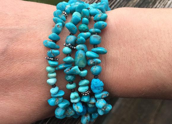 Four strand turquoise bracelet