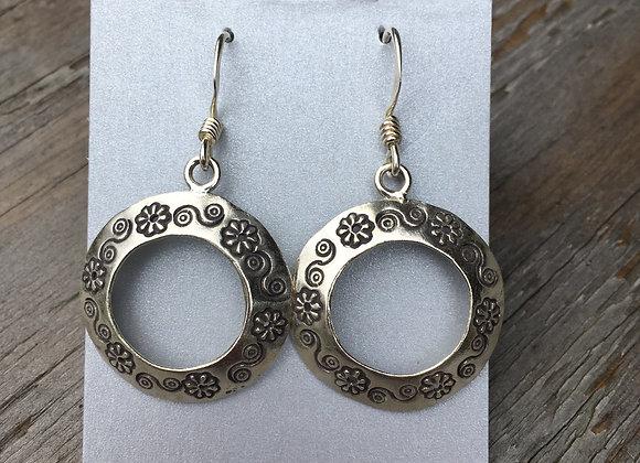 Hilltribe open circle earrings