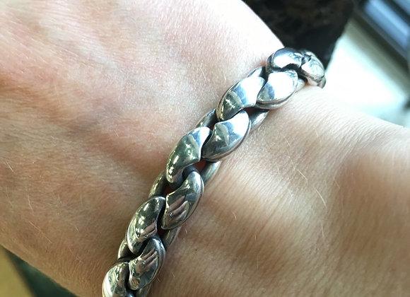 Bubble links men's bracelet