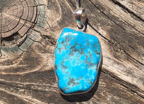 Sleeping beauty turquoise pendant