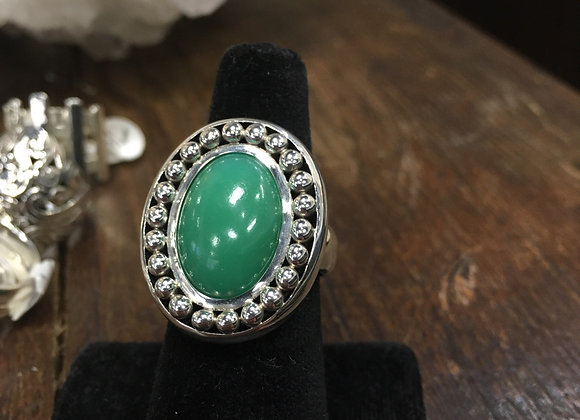 Outre Mere Chrysoprase ring