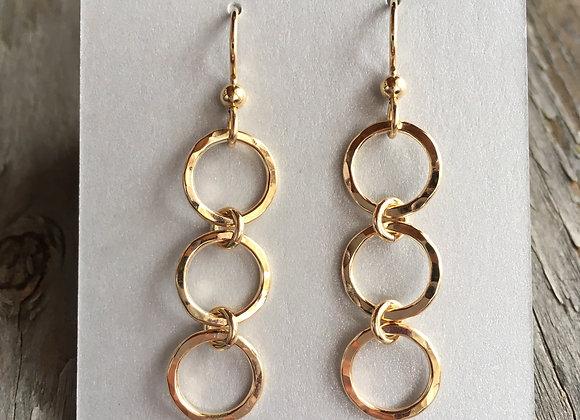 Mikel Grant circlet drop earrings gold fill