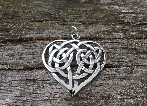 Large Celtic heart pendant