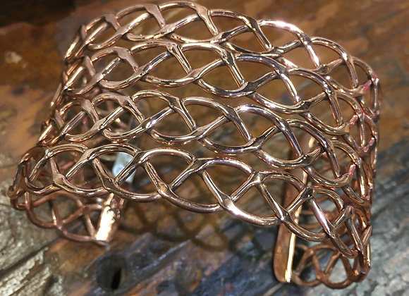 Open weave copper bracelet