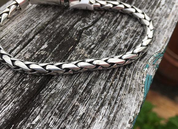 Heavy braided link bracelet