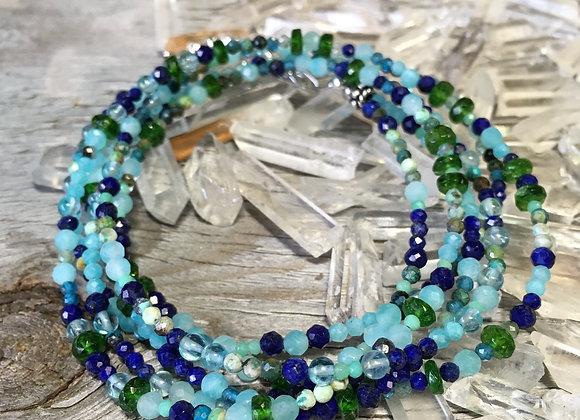 GenVie designs wrap bracelet Amazonite and lapis