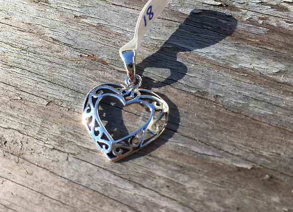 Open centre Celtic heart pendant